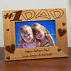 Number One Dad Wood Picture Frame