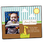 Personalized Baby Boy Giraffe Picture Frame