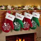 Snowflake Mitten Personalized Christmas Stocking