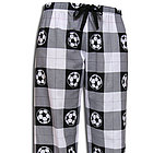 Soccer Ball Plaid Flannel Pant