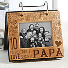 Reasons Why for Him Personalized Photo Flip Picture Album