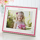My Flower Girl Engraved Pink Border Frame