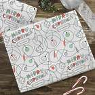 Merry Christmas Reindeer Personalized Wrapping Paper