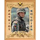 Wooden Personalized Soldier Frame
