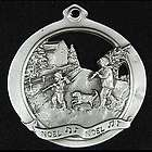 Noel Father and Child Pewter Ornament