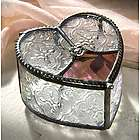 Stained Glass Heart Shape Jewelry Box