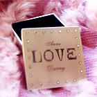 Personalized Brushed Silver Sweetheart Love Box