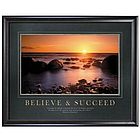 Believe & Succeed Motivational Poster