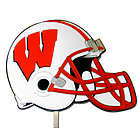 Wisconsin Badgers Football Helmet Lawn Ornament