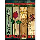 Believe Those We Love Don't Go Away Yard Post