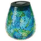 Hand-Blown Glass LED Solar Mosaic Lantern