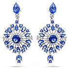 Sapphire CZ Starburst Drop Earrings