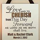 Personalized Wedding Vows Wood Plaque