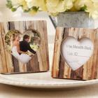 12 Faux-Wood Place Card Holders/Photo Frames