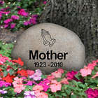 Personalized Medium River Rock Memorial Garden Stone
