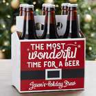 The Most Wonderful Time for a Beer Personalized Bottle Carrier