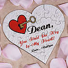 You Hold the Key to My Heart Wood Jigsaw Puzzle