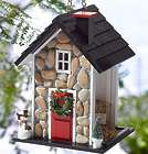 Stone Bird House Feeder