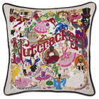 Hand Embroidered Nutcracker Pillow