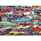 Fancy Fins and Classic Chrome Cars Puzzle
