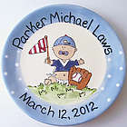Personalized Ceramic Baseball Plate