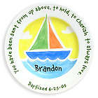 Sailboat Baptism Plate