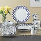 16 Piece Blue Capella Dinnerware Set