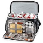 Portable BBQ Grilling Set with Built-In Cooler Bag