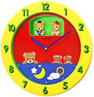 Lil' Bears Wall Clock
