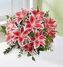 5 Stem Stunning Pink Oriental Lily Bouquet Bouquet