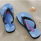 Dolphin Personalized Girl's Flip Flop Sandals
