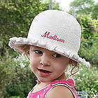 Personalized Toddlers Crocheted Easter Bonnet