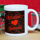 Personalized I Love You Coffee Mug