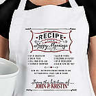 Personalized Recipe For A Happy Marriage Wedding Apron