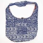 Tribal Block Print Bag in Blue