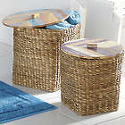 Pavati Woven Baskets with Wood Lids