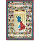 England, Scotland, and Wales Family Crest Coat of Arms Map Poster