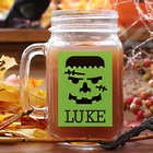 Personalized Halloween Character Mason Jar