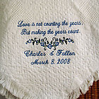 Love Counts Personalized Wedding/Anniversary Afghan