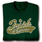 Personalized Irish Celtic Roots Cotton T-Shirt