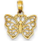 Small 14-Karat Yellow Gold Butterfly Pendant