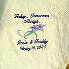Today, Tomorrow & Always Embroidered Personalized Wedding Afghan