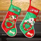 I Love My Dog Personalized Christmas Stocking