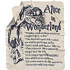 Alice in Wonderland Storybook Blanket