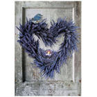 Light Up Lavender Heart Stretched Canvas