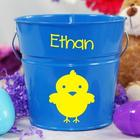 Blue Personalized Easter Bucket