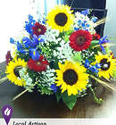 Colorful Sunflower Centerpiece