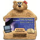 Personalized Bear Business Card Holder for Chiropractor