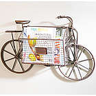 Bicycle with Storage Basket Wall Decor