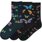 Night Wing Dragonfly Owl and Butterfly Socks
